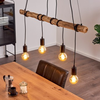 TIRANA Pendant Light black, brown, 4-light sources