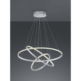 Trio AARON Pendant Light LED matt nickel, 1-light source, Remote control, Colour changer