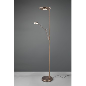 Trio BARRIE Floor Lamp LED antique brass, 2-light sources