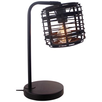 Brilliant CROSSTOWN Table lamp black, Dark wood, 1-light source