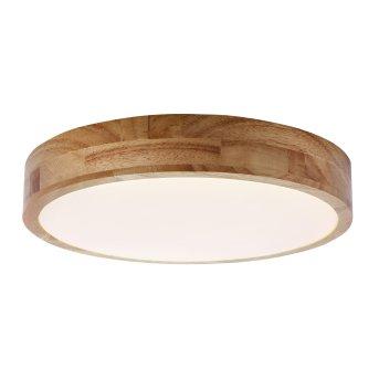 Brilliant SLIMLINE Ceiling Light LED white, Dark wood, 1-light source, Remote control