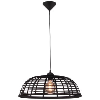 Brilliant CROSSTOWN Pendant Light black, Dark wood, 1-light source