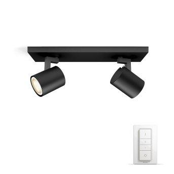 Philips HUE AMBIANCE WHITE RUNNER Spotlight base set black, 2-light sources, Remote control