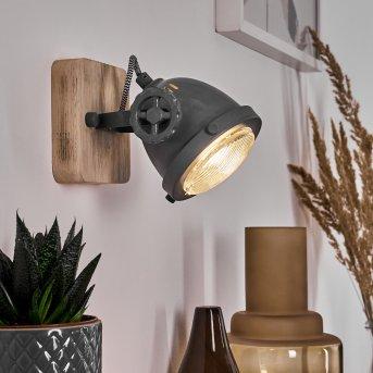 HERFORD Wall Light grey, Light wood, 1-light source