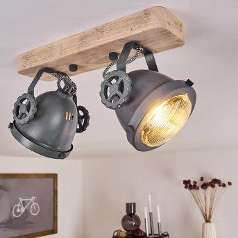 HERFORD Ceiling Light grey, Light wood, 2-light sources