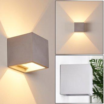 BRASLO Wall Light grey, 1-light source