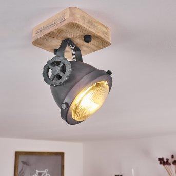 HERFORD Ceiling Light grey, Light wood, 1-light source