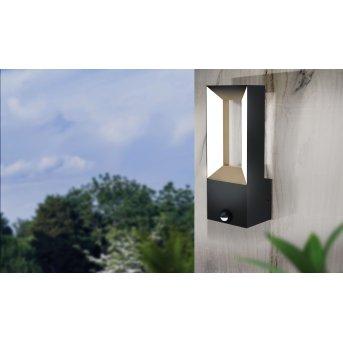 Eglo RIFORANO Outdoor Wall Light LED black, 2-light sources, Motion sensor
