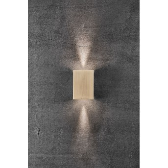 Nordlux FOLD Outdoor Wall Light LED brass, 2-light sources