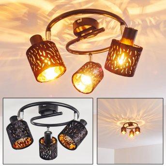 Liared Ceiling light chrome, black, 3-light sources