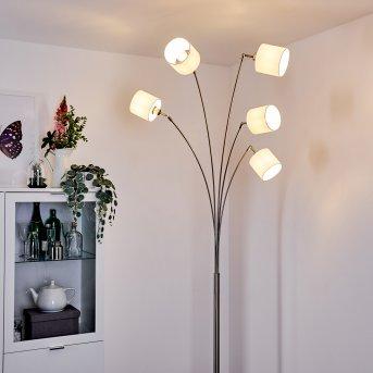 ALSEN Floor Lamp matt nickel, 5-light sources