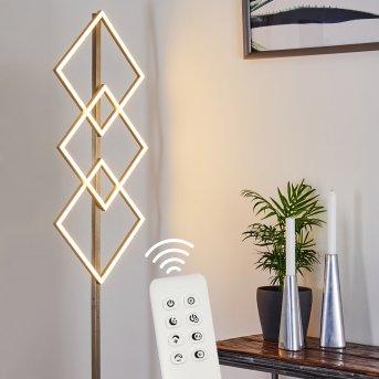 VEYRIER Floor Lamp LED matt nickel, 3-light sources, Remote control