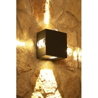 Lutec EVANS outdoor wall light LED anthracite, 4-light sources