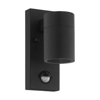Eglo RIGA Outdoor Wall Light LED black, 1-light source, Motion sensor