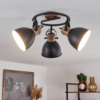 BANJUL Ceiling Light black, 3-light sources