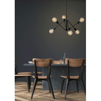 Lucide LESTER Pendant Light black, 6-light sources