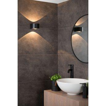 Lucide RAYEN wall spotlight LED black, 1-light source