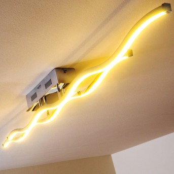 Paul Neuhaus EMMA ceiling light LED stainless steel, 2-light sources