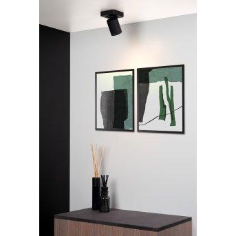 Lucide NIGEL ceiling spotlight LED black, 1-light source