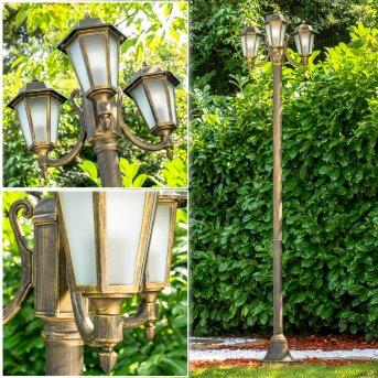 NATAL FROST Lamp Post black-gold, 3-light sources