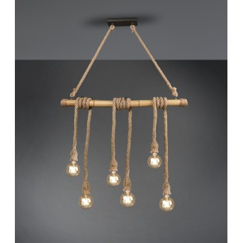 Reality WILMA Pendant Light LED grey, brown, 6-light sources