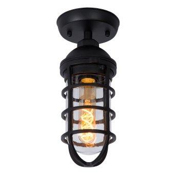 Lucide LIMAL outdoor ceiling light black, 1-light source