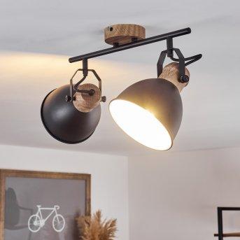 BANJUL Ceiling Light black, 2-light sources