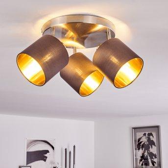 ALSEN Ceiling Light matt nickel, 3-light sources