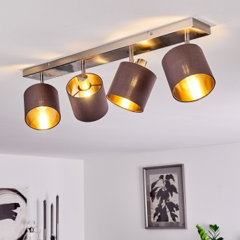 ALSEN Ceiling Light matt nickel, 4-light sources