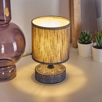 KIGOMBO Table lamp black, grey, 1-light source