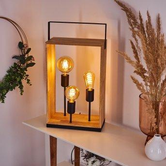 KABIMOI Table lamp Light wood, 3-light sources