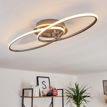 HARPETH Ceiling Light LED matt nickel, 1-light source
