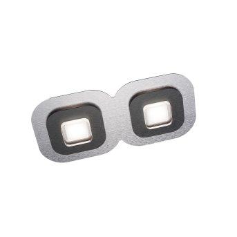 Grossmann AP Ceiling Light LED black, aluminium, 2-light sources
