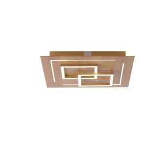 Paul Neuhaus Q-LINEA Ceiling Light LED Light wood, 4-light sources, Remote control