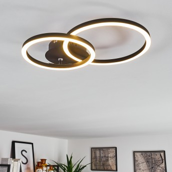 MALANJE Ceiling Light LED black, 2-light sources