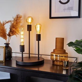 TRAVESIAS Table lamp black, 3-light sources