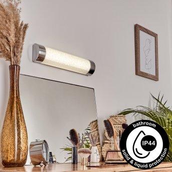MACAJE Wall Light LED chrome, transparent, clear, 1-light source