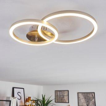 MALANJE Ceiling Light LED matt nickel, 2-light sources