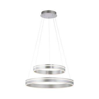 Paul Neuhaus Q-VITO Pendant Light LED silver, 2-light sources, Remote control
