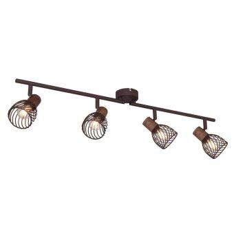 Spotlight Globo ISABELLE rust-coloured, 4-light sources