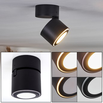 APPLETON Ceiling Light LED black, 1-light source