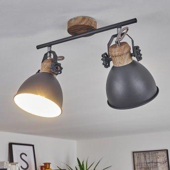 BANJUL Ceiling Light grey, light wood, 2-light sources
