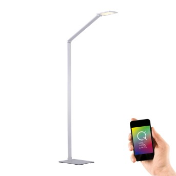 Paul Neuhaus Q-HANNES Floor Lamp LED silver, 1-light source, Remote control