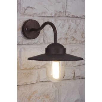 Nordlux Luxembourg wall light rust-coloured, brown, transparent, clear, 1-light source