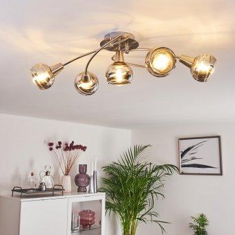 WARGA Ceiling Light LED matt nickel, 5-light sources