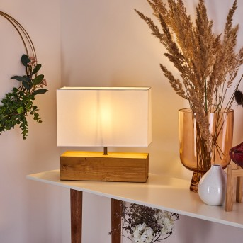 GENEVA Table lamp light wood, 1-light source