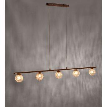 Paul Neuhaus GRETA pendant light rust-coloured, 5-light sources