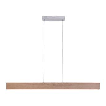 Paul Neuhaus Q-TIMBER Pendant Light LED Light wood, 1-light source, Remote control