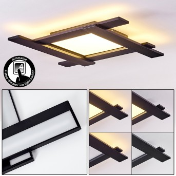 CUCHARA Ceiling Light LED black, 5-light sources
