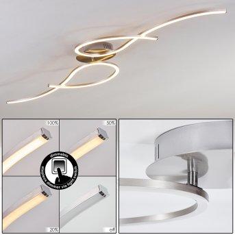 KEREITA Ceiling Light LED matt nickel, 1-light source